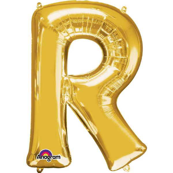 SuperShape Letter R - Gold